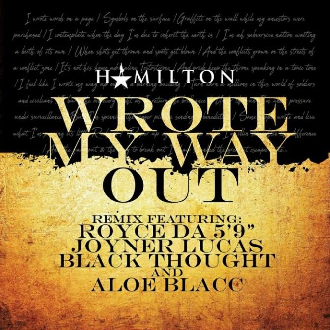 "Royce da 5'9″, Joyner Lucas & Black Thought Feat. Aloe Blacc ""Wrote My Way Out (Remix)"""