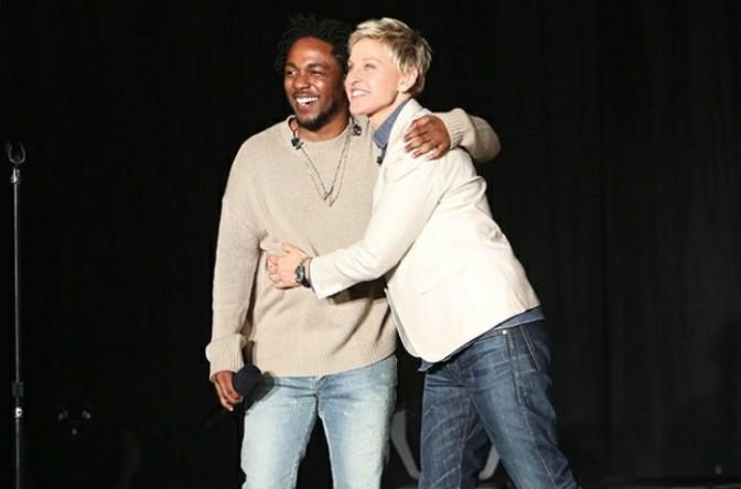 "Kendrick Lamar Gifts Ellen with ""DAMN"" Nike Sneakers"