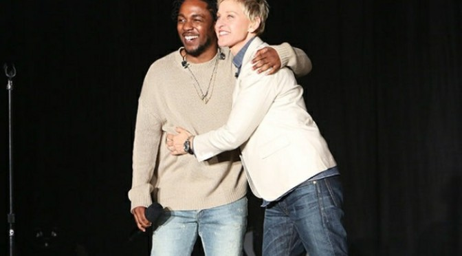 "Kendrick Lamar Gifts Ellen with ""DAMN"" Nike Sneakers"