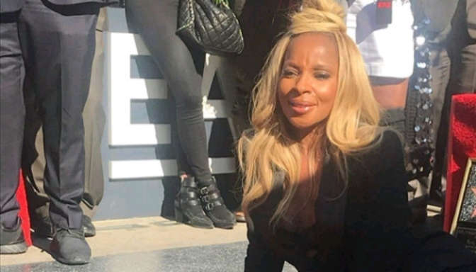 Mary J. Blige Receives Star On The Hollywood Walk Of Fame