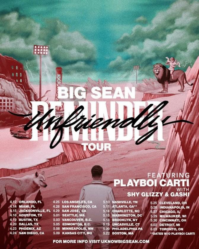 """Big Sean Announces """"Unfriendly Reminder"""" Tour"""