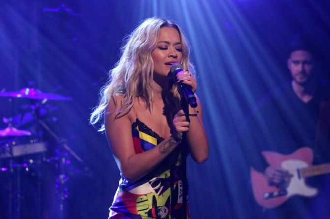 "Rita Ora Performs ""Anywhere"" on Late Night with Seth Meyers"