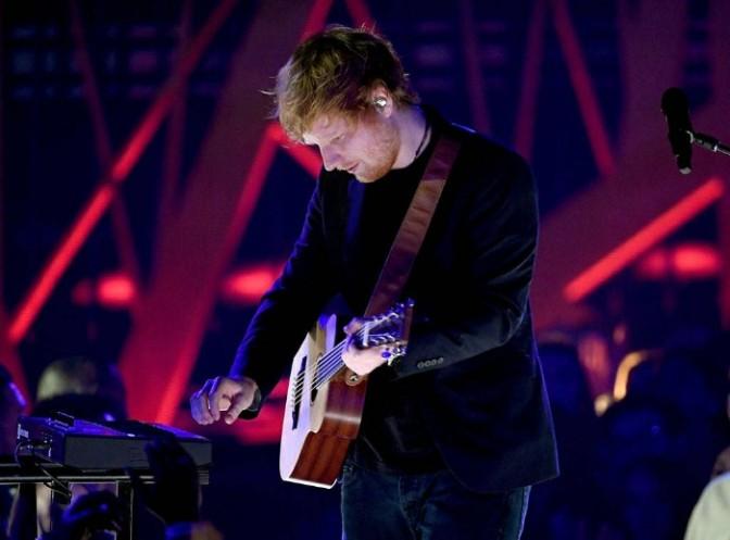 Ed Sheeran Performs at iHeartRadio Music Awards