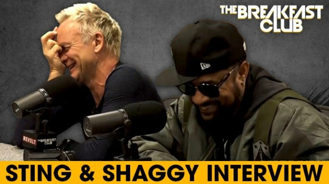 Sting & Shaggy On The Breakfast Club