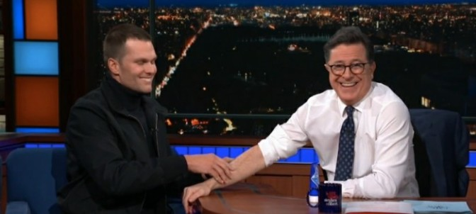 Tom Brady On The Late Show with Stephen Colbert