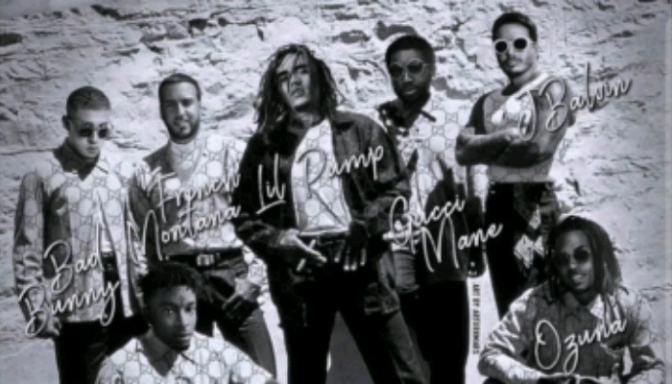"Lil Pump Feat. Gucci Mane, French Montana, 21 Savage, J Balvin, Bad Bunny & Ozuna ""Gucci Gang (Remix)"""