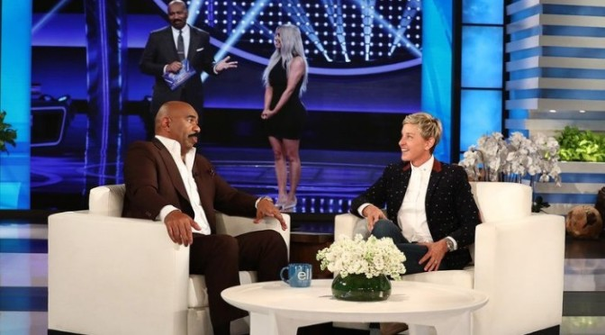 "Steve Harvey Dishes on the Kardashian/West ""Family Feud"" Episode"
