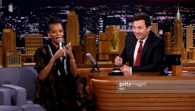 Letitia Wright On The Tonight Show