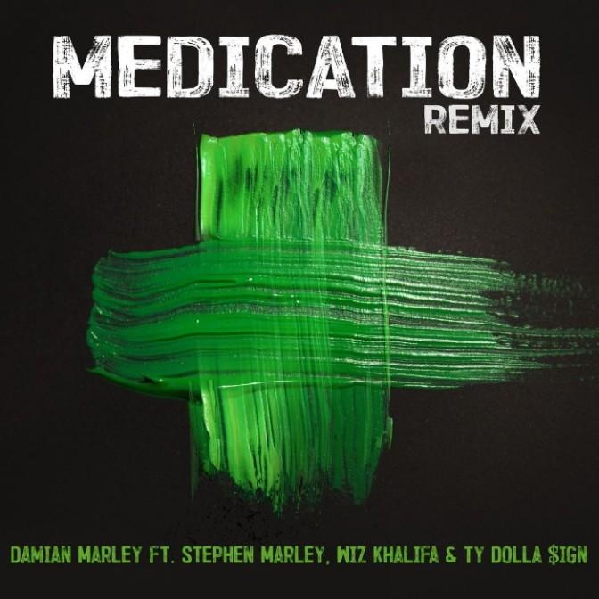 "Damian Marley Feat. Stephen Marley,Wiz Khalifa &Ty Dolla $ign ""Medication (Remix)"""