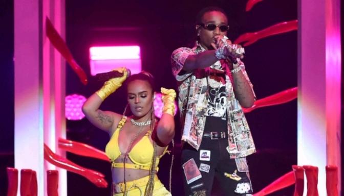 "Karol G & Quavo Perform ""Ahora Me Llama"" at the Latin Billboard Awards"