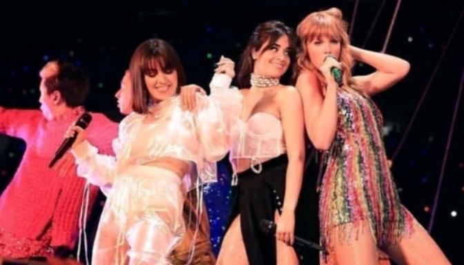 "Camila Cabello & Charli XCX Help Taylor Swift Perform ""Shake It Off"""