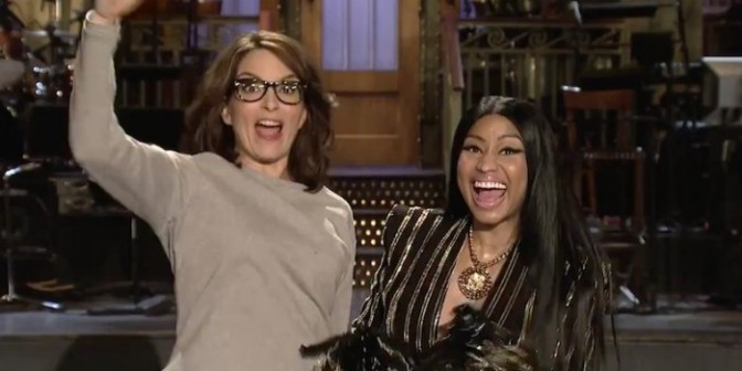 Nicki Minaj & Tina Fey Star In SNL Promo