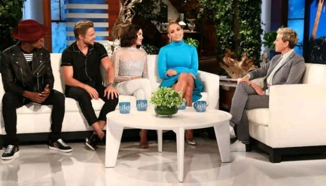 World Of Dance's Jennifer Lopez, Derek Hough, Ne-Yo, Jenna Dewan On Ellen