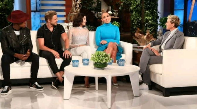 World Of Dance's Jennifer Lopez, Derek Hough, Ne-Yo, Jenna Dewan On Ellen