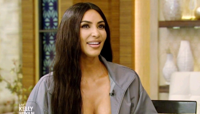 Kim Kardashian On Live with Kelly and Ryan