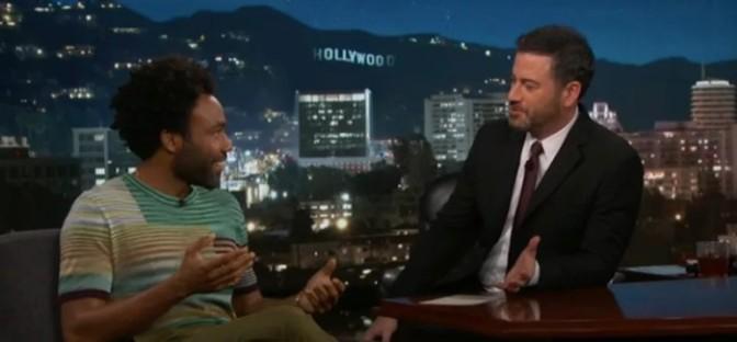Donald Glover On Kimmel