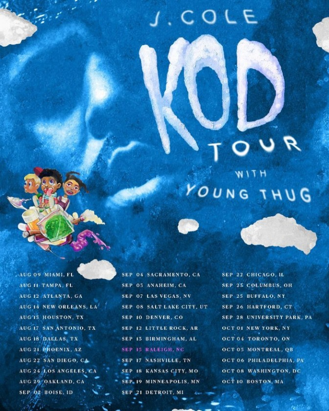 "J. Cole Announces ""K.O.D. Tour"" with Young Thug"