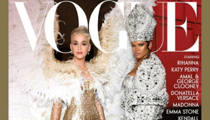 """Rihanna & Katy Perry Cover Vogue's """"Met Gala"""" Issue"""