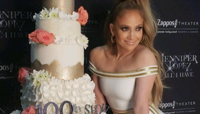 "Jennifer Lopez Celebrates 100 Shows Of ""ALL I HAVE"" Residency In Vegas"