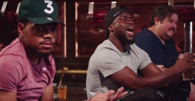 Watch Kevin Hart & Chance The Rapper Do Beer Yoga
