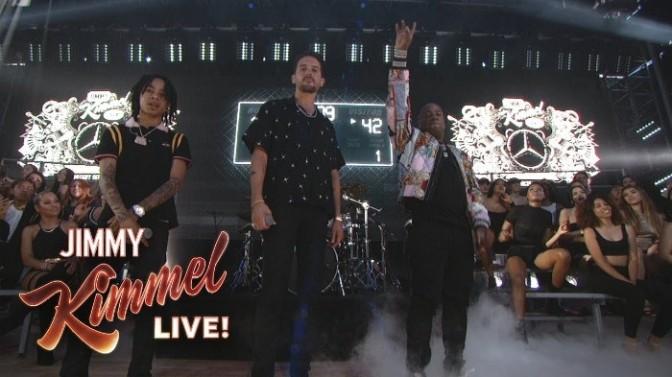 """G-Eazy, Yo Gotti & YBN Nahmir Perform """"1942"""" On Kimmel"""